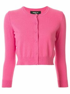 Paule Ka cropped long-sleeve cardigan - PINK