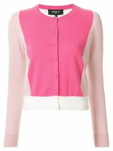 Paule Ka colour-block fitted cardigan - PINK