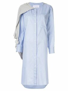 pushBUTTON striped long shirt - Blue