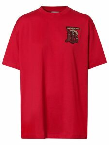 Burberry Monogram motif oversized T-shirt - Red