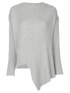 Marques'Almeida lurex crew neck asymmetric jumper - Grey