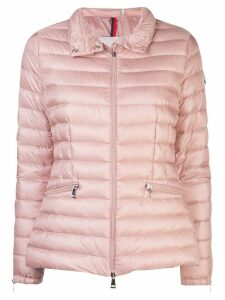Moncler fitted padded jacket - PINK