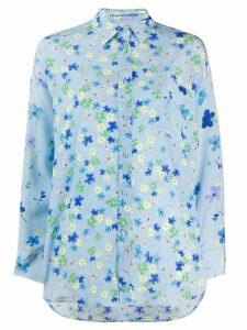 Ermanno Scervino silk floral print shirt - Blue