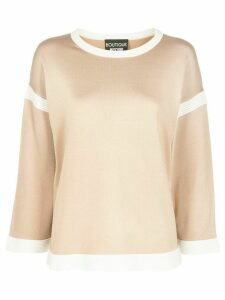 Boutique Moschino contrast details jumper - NEUTRALS