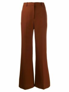 Victoria Beckham high waisted wide leg trousers - Brown