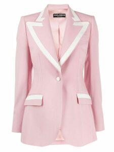 Dolce & Gabbana lined collar blazer - PINK