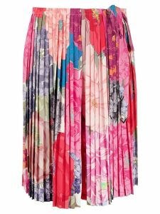Valentino pleated floral print skirt - PINK