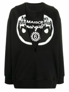 Mm6 Maison Margiela logo print sweatshirt - Black