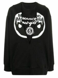 Mm6 Maison Margiela logo print sweatshirt - Black