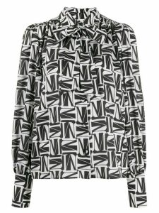 MSGM geometric print blouse - Black