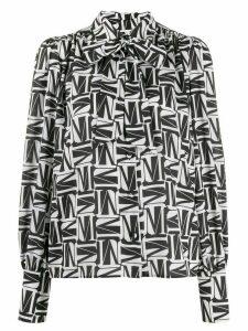MSGM geometric print blouse - Black