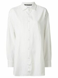 GOODIOUS striped boyfriend shirt - White