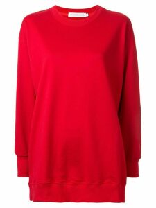 GOODIOUS Blah Blah oversized sweatshirt - Red