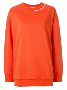 GOODIOUS Don't Get Caught oversized sweatshirt - ORANGE