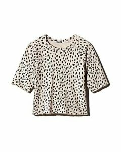 Monrow Raw-Edge Cheetah Print Sweatshirt - 100% Exclusive