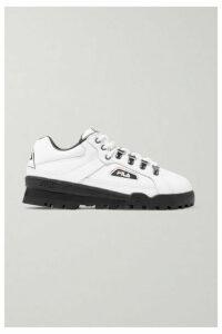 Fila - Trailblazer Logo-appliquéd Leather Sneakers - White