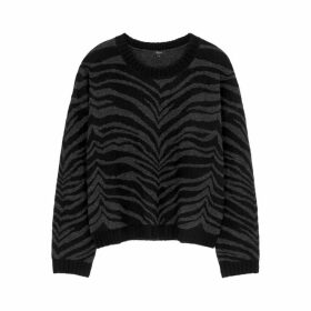 Rails Chance Black Tiger-intarsia Jumper