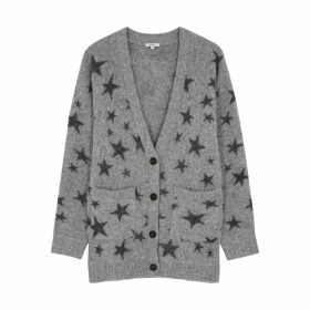 Rails Oslo Grey Star-intarsia Cardigan