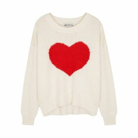 Wildfox HeartStruck Knitted Cotton Jumper