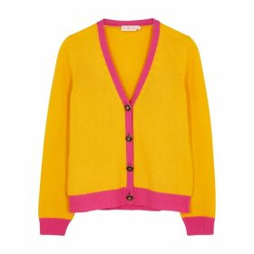Tory Burch Yellow Cashmere Cardigan