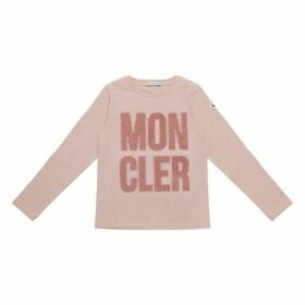 Moncler Enfant Glittery Logo Top