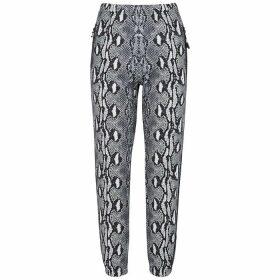 Adam Selman Sport Python-print Jersey Sweatpants