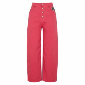 MM6 By Maison Margiela Pink Wide-leg Jeans