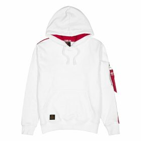 Alpha Industries RBF White Hooded Cotton-blend Sweatshirt