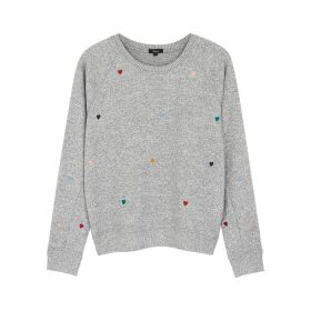 Rails Mika Grey Embroidered Jersey Sweatshirt