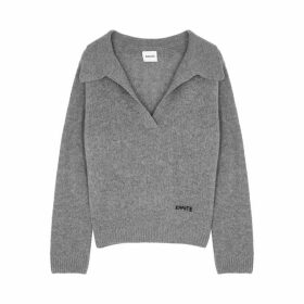 Khaite Marisa Grey Cashmere Sweatshirt
