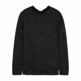 M Missoni Black Sequin-embellished Knitted Top