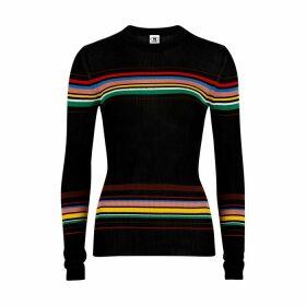 M Missoni Striped Fine-knit Top