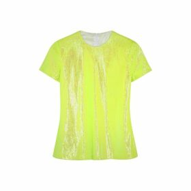 MM6 By Maison Margiela Neon Yellow Sequin T-shirt