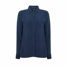 URUN - Urun Essentials Pocket Shirt In Navy Blue