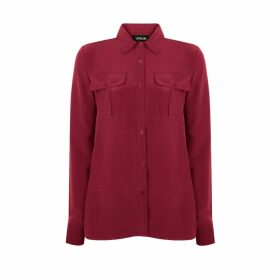 URUN - Urun Essentials Pocket Shirt In Burgundy