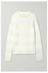 alexanderwang.t - Striped Wool-blend Sweater - White
