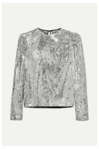 Philosophy di Lorenzo Serafini - Sequined Tulle Top - Silver