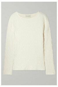 Mansur Gavriel - Crinkled Cotton-jersey Top - Cream