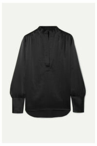 Nili Lotan - Colette Silk-satin Blouse - Black