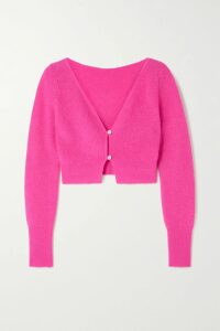 Oscar de la Renta - Jacquard-trimmed Merino Wool And Silk-blend Sweater - Ivory
