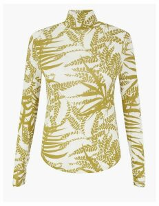 Per Una Modal Rich Printed Long Sleeve Top