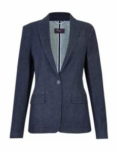 M&S Collection Denim Single Breasted Blazer