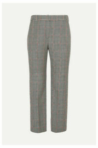 Alexander McQueen - Cropped Prince Of Wales Wool-blend Straight-leg Pants - Gray