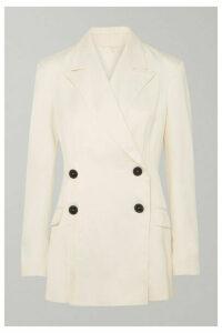 RUH - Button-detailed Cady Blazer - White