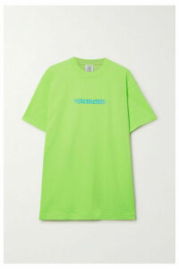Vetements - Appliquéd Printed Jersey T-shirt - Green