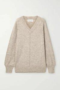 APIECE APART - Gabriel Oversized Mélange Alpaca-blend Sweater - Beige
