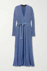 Missoni - Belted Lurex Cardigan - Blue