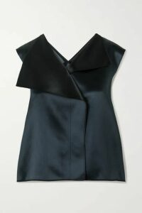 The Row - Ori Two-tone Satin Top - Navy