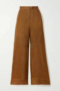 Lisa Marie Fernandez - + Net Sustain Linen-gauze Wide-leg Pants - Brown