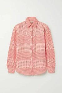 LemLem - Semira Cotton-gauze Shirt - Coral